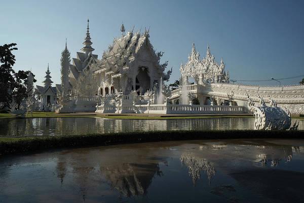 Chiang Mai Province Photograph - Thailand White Temple Chiang Rai by Dangdumrong