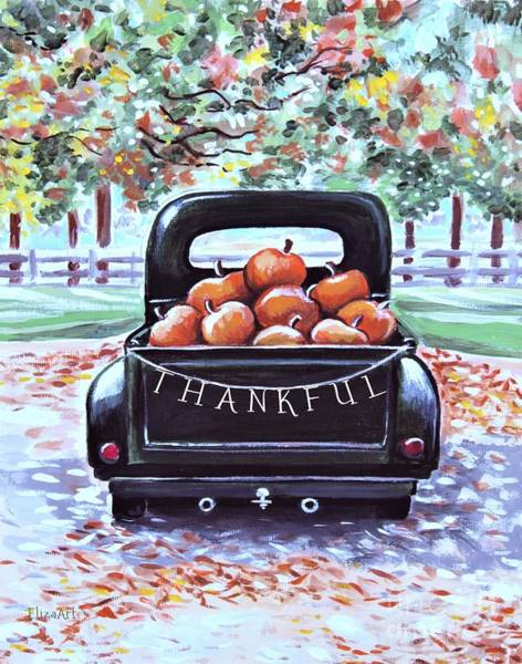 Painting - Thankful by Elizabeth Robinette Tyndall