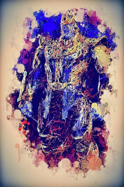 Mixed Media - Thanos Watercolor by Al Matra