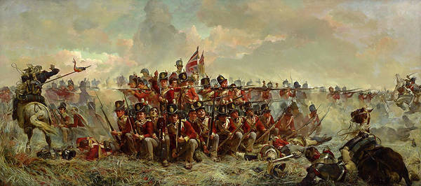 Wall Art - Painting - The 28th Regiment At Quatre Bras by Elizabeth Butler