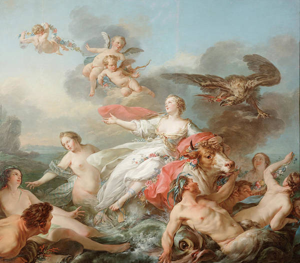 Wall Art - Painting - The Abduction Of Europa by Jean Baptiste Marie Pierre