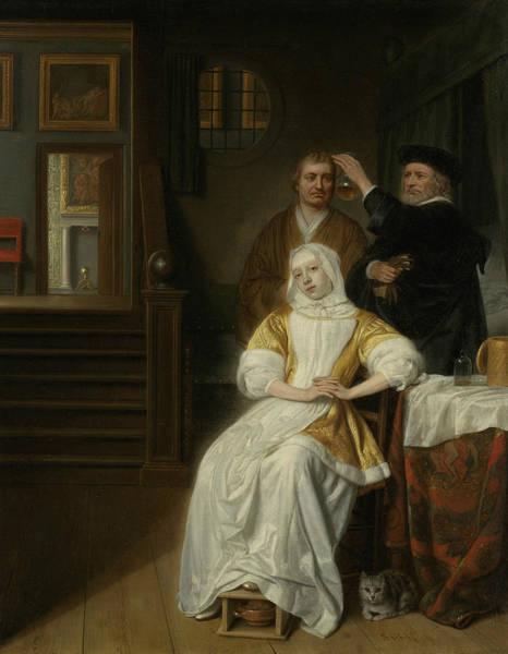 Painting - The Anemic Lady by Samuel van Hoogstraten