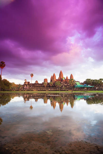 Reap Photograph - The Angkor Wat Temple At Sunset by Matthew Micah Wright