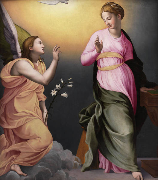 Wall Art - Painting - The Annunciation by Bronzino