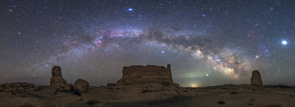 Wall Art - Photograph - The Arc Of The Milky Way From Dafang by Jeff Dai