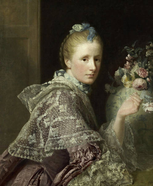 Wall Art - Painting - The Artist's Wife- Margaret Lindsay Of Evelick by Allan Ramsay