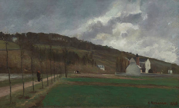 Wall Art - Painting - The Banks Of The Marne In Winter by Camille Pissarro