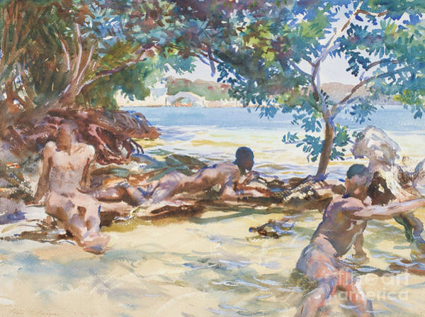 Wall Art - Painting - The Bathers  by John Singer Sargent