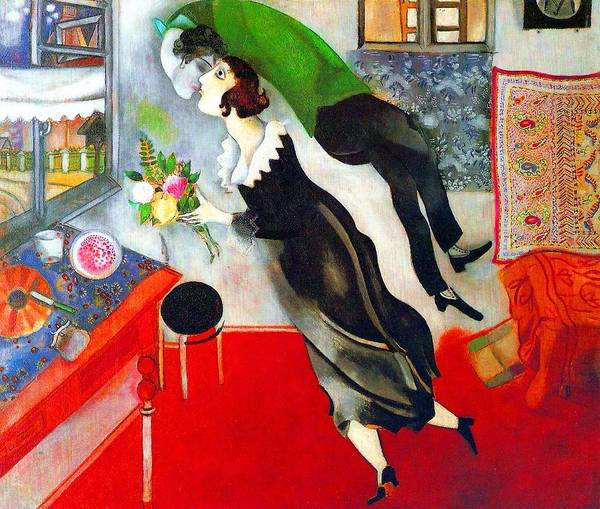 Wall Art - Painting - The Birthday by Marc Chagall