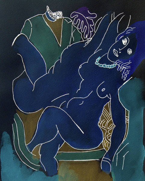 Painting - The Blue Nude by Rein Nomm