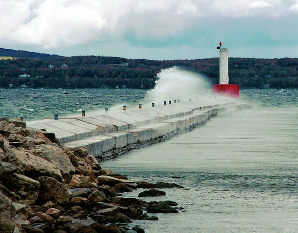 Photograph - The Breakwater by Rein Nomm