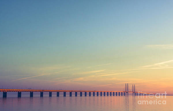 Wall Art - Photograph - The Bridge Between Denmark And Sweden by Kimson