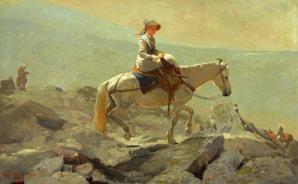 Wall Art - Painting - The Bridle Path, White Mountains, Circa 1868 by Winslow Homer