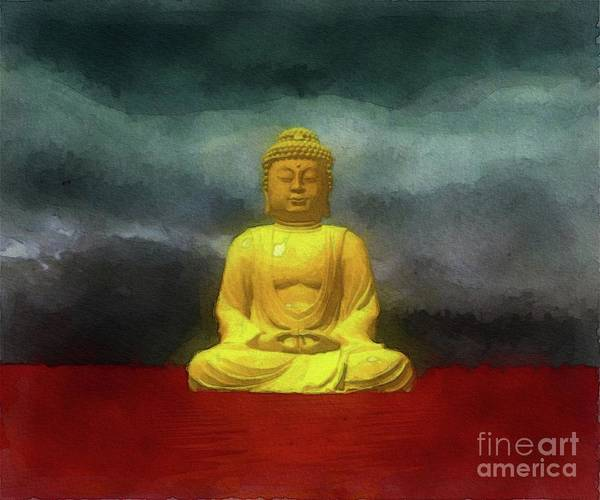 Esoteric Painting - The Buddha by Raphael Terra