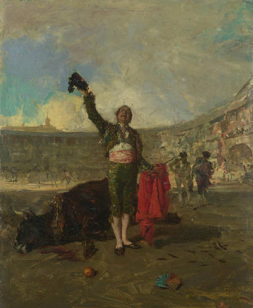 Painting - The Bull-fighter's Salute by Maria Fortuny