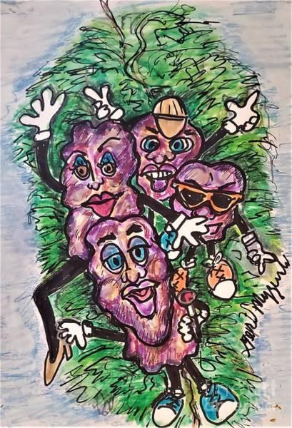Wall Art - Mixed Media - The California Raisins  by Geraldine Myszenski