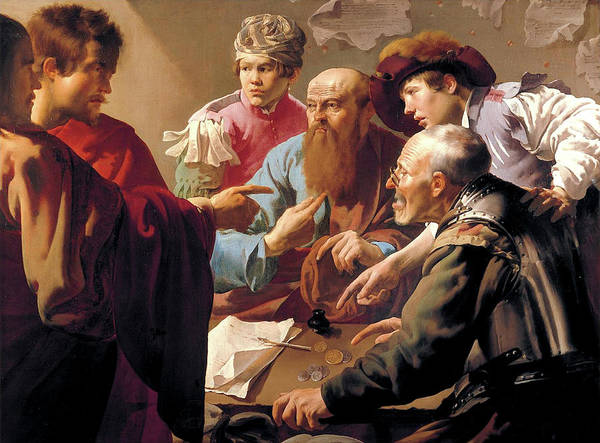 Painting - The Calling Of Matthew  by Hendrick ter Brugghen
