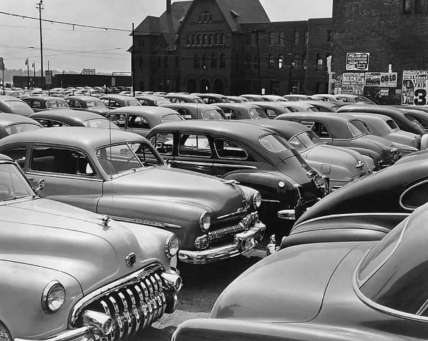 Parking Lot Photograph - The Car Lot by Herbert