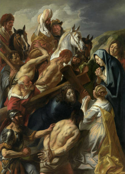 Golgotha Painting - The Carrying Of The Cross, 1657 by Jacob Jordaens