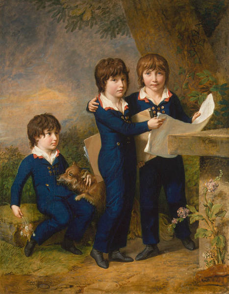 Painting - The Children Of Martin Anton Heckscher by Johann Heinrich Wilhelm Tischbein
