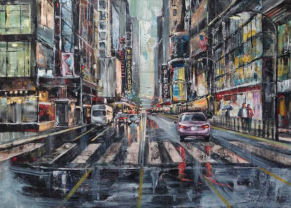 Painting - The City Rhythm by Stefano Popovski