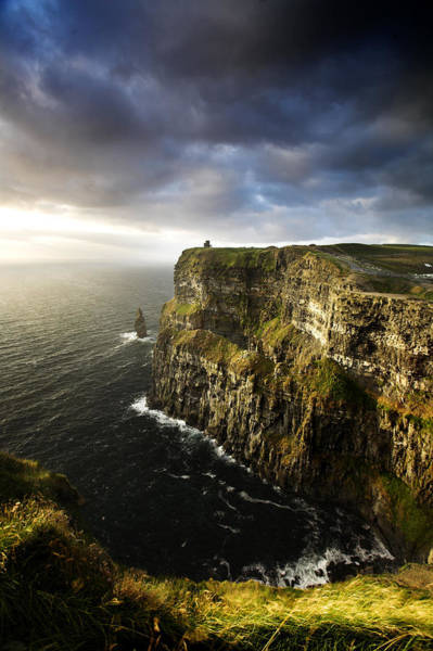 The Burren Photograph - The Cliffs Of Moher In Evening Light by David Clapp