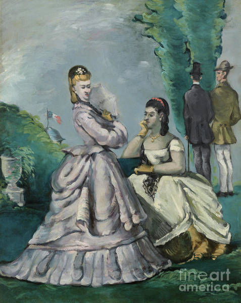 Wall Art - Painting - The Conversation by Paul Cezanne