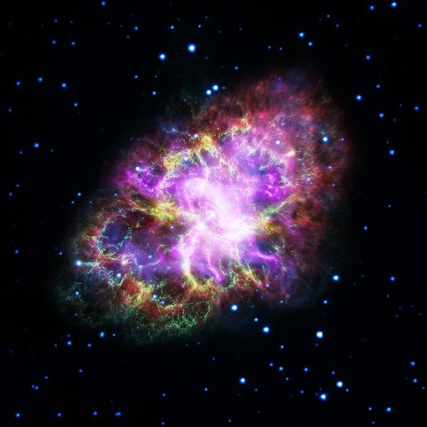 Wall Art - Painting - The Crab Nebula 4 by Celestial Images