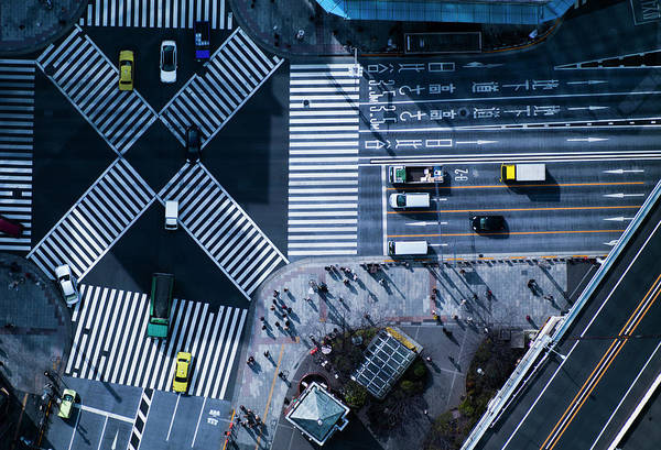 Vitality Photograph - The Crossing Way Of Ginza In Tokyo Japan by Michael H