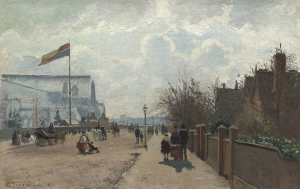 Painting - The Crystal Palace by Camille Pissarro