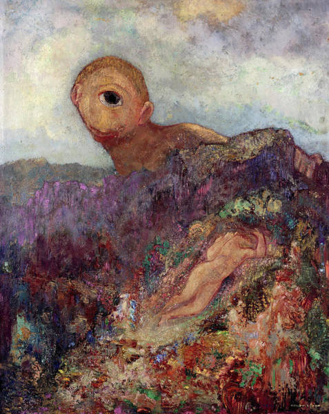 Wall Art - Painting - The Cyclops, 1914 by Odilon Redon