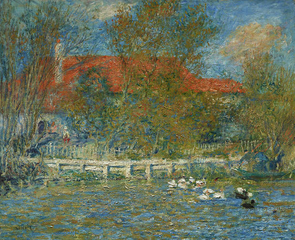 Wall Art - Painting - The Duck Pond by Pierre-Auguste Renoir