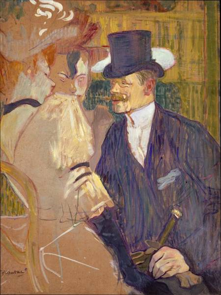 Wall Art - Painting - The Englishman At The Moulin Rouge 1892 by Henri de Toulouse Lautrec