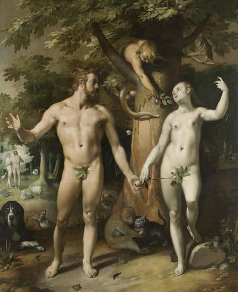 Wall Art - Painting - The Fall Of Man by Cornelis van Haarlem