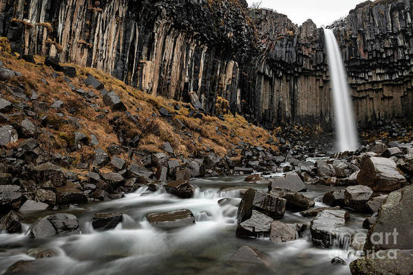 Wall Art - Photograph - The Famous And Unique Svartifoss In Iceland. by Jamie Pham