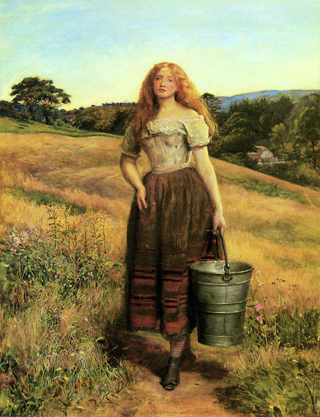 Painting - The Farmers Daughter  by John Everett Millais