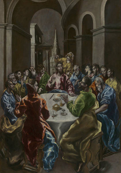 Wall Art - Painting - The Feast In The House Of Simon by El Greco