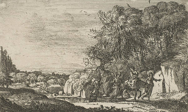 Relief - The Flight Into Egypt by Claude Lorrain