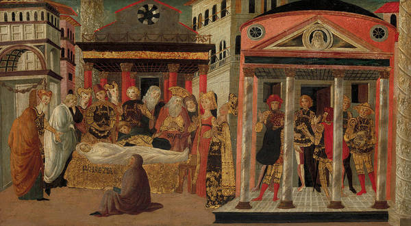 Painting - The Funeral Of Lucretia by Master of Marradi