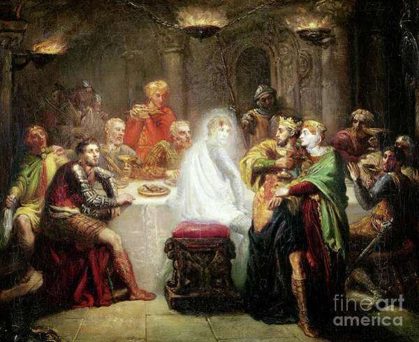 Wall Art - Painting - The Ghost Of Banquo by Theodore Chasseriau