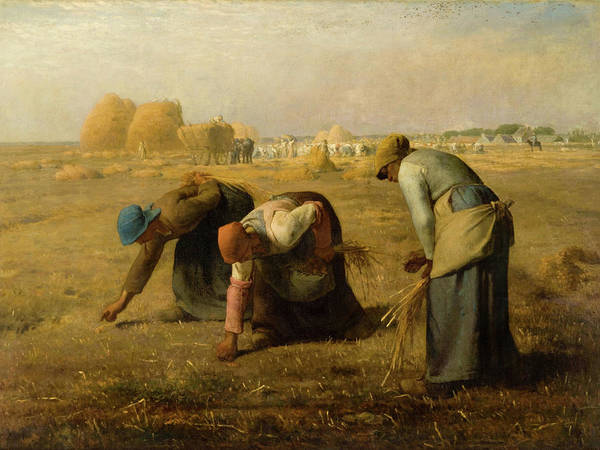 The Shepherdess Wall Art - Painting - The Gleaners by Jean-Francois Millet