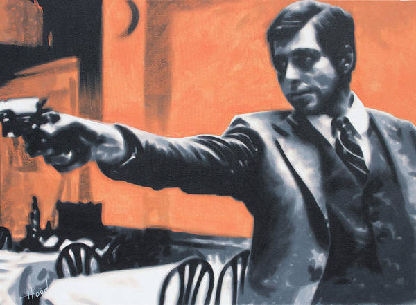 Robert De Niro Wall Art - Painting - The Godfather by Hood aka Ludzska