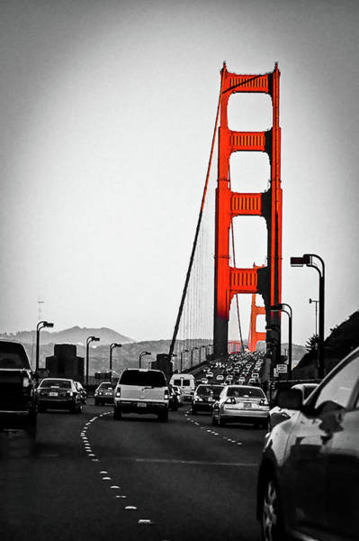 Wall Art - Photograph - The Golden Gate Bridge Connect San Francisco And The Marin, Is I by Kim Vermaat
