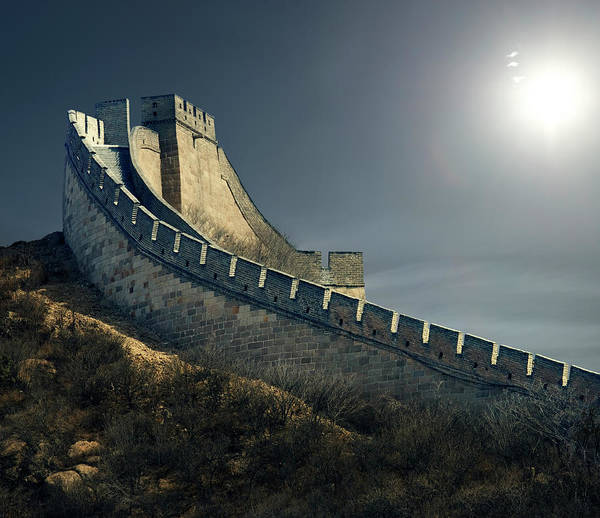 Photograph - The Great Wall, Badaling, Beijing by Ed Freeman