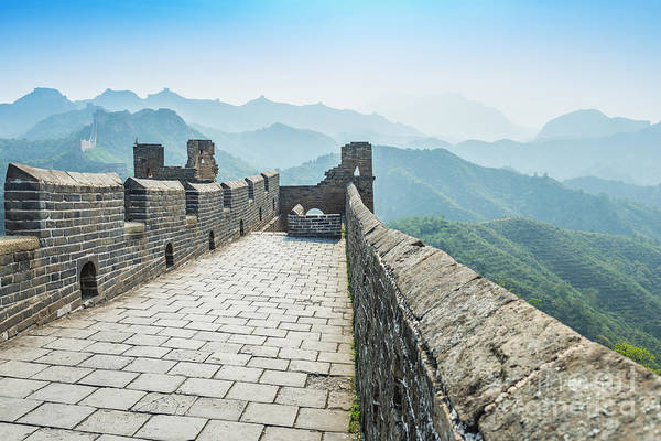 Border Wall Art - Photograph - The Great Wall Of China by Aphotostory