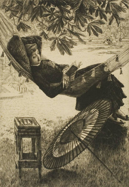 Wall Art - Relief - The Hammock by James Tissot