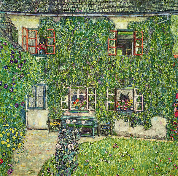 Wall Art - Painting - The House Of Guardaboschi, 1912 by Gustav Klimt