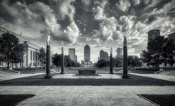 Wall Art - Photograph - The Indiana World War I Memorial Plaza - Indianapolis by Mountain Dreams