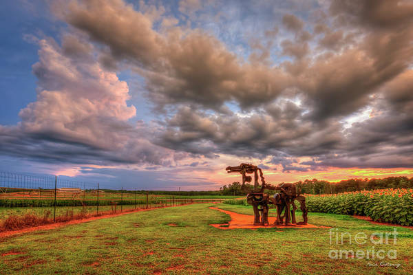 Time Magazine Photograph - Majestic Iron Horse Sunset 8 U G A Iron Horse Farm Landscape Art by Reid Callaway