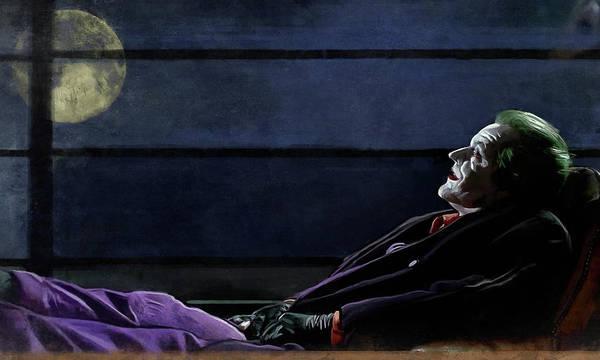 Wall Art - Painting - The Joker by Joseph Oland